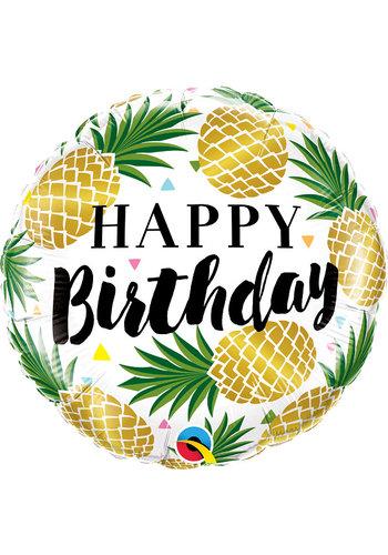 Folieballon Birthday Pineapple - 45cm