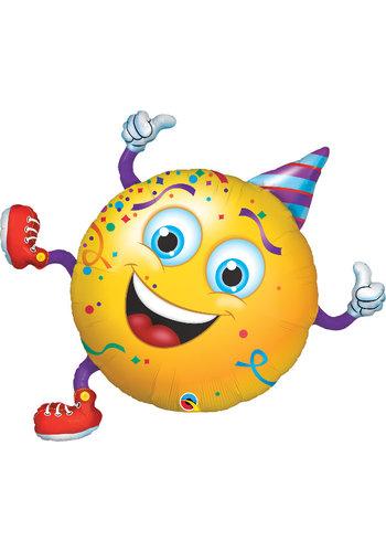 Folieballon Smiley Party Guy - 74x64cm