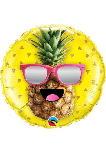 Folieballon Mr. Cool Pineapple - 45cm