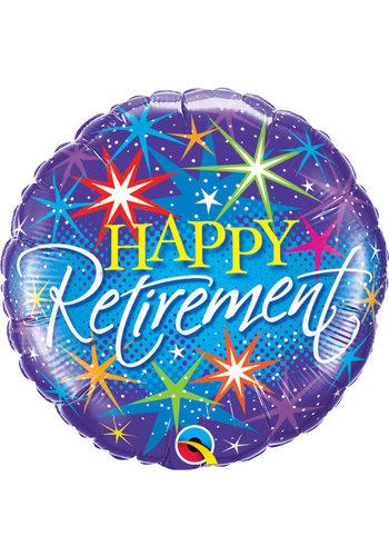Folieballon Happy Retirement - 45cm