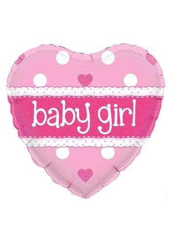 Folieballon - Baby Girl - 45cm