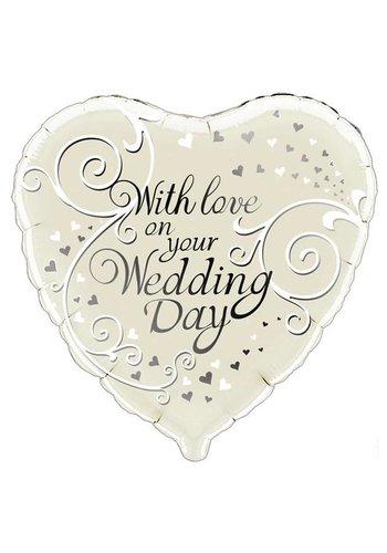 Folieballon - Wedding Day - 45cm