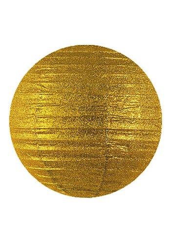 Lampion glitter goud - 25cm