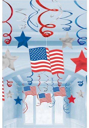 Swirl Decoration USA - 30 stuks