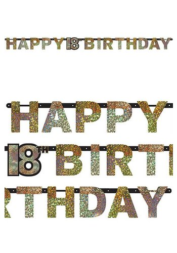 Letterbanner Happy 18th Birthday - 2.13 mtr
