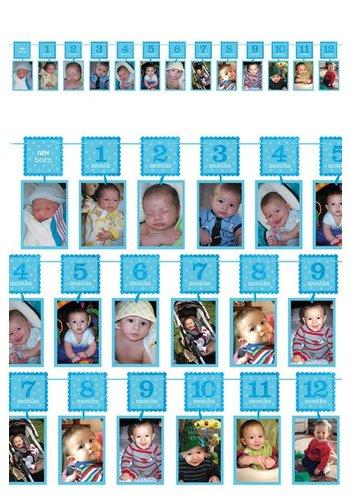 12 maanden slinger - Blauw