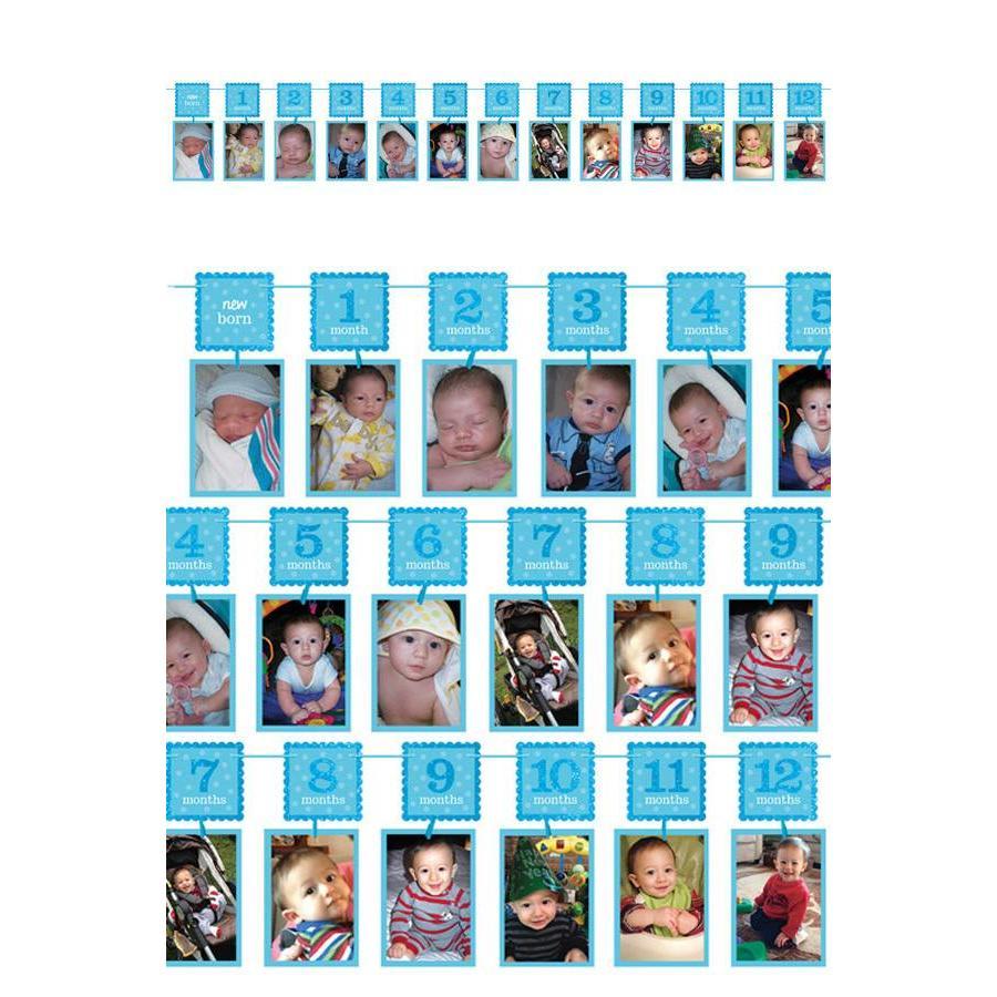 12 maanden slinger - Blauw-1