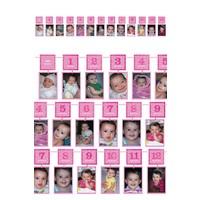 12 maanden slinger - Roze