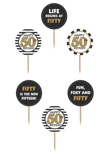 Cupcake toppers 50 - 10cm - 6 stuks