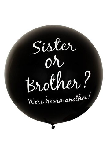 Mega Ballon - Brother or Sister - 90cm