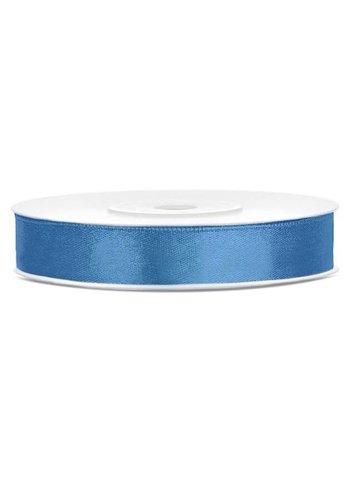 Satijn Lint - Blauw - 12mm x 25mtr
