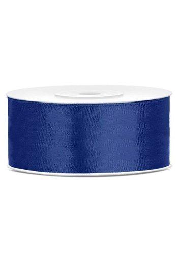 Satijn Lint - Blauw - 25mm x 25mtr