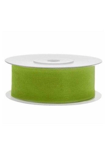 Satijn Lint - Mos Groen - 25mm x 25mtr