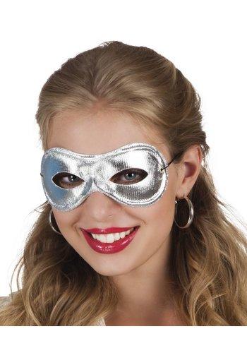 Oogmasker Metallic - Zilver