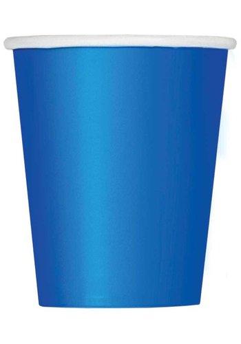 Bekertjes Donker Blauw 250ml - 8 stuks