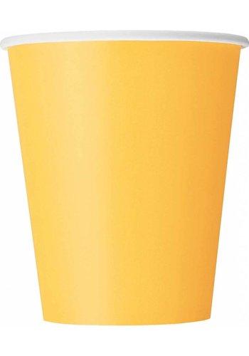 Bekertjes Geel 250ml - 8 stuks