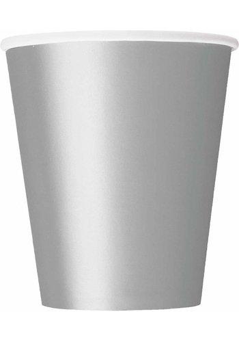 Bekertjes Zilver 250ml - 8 stuks