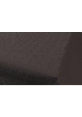 Damast Tafelkleed Zwart 8x118cm