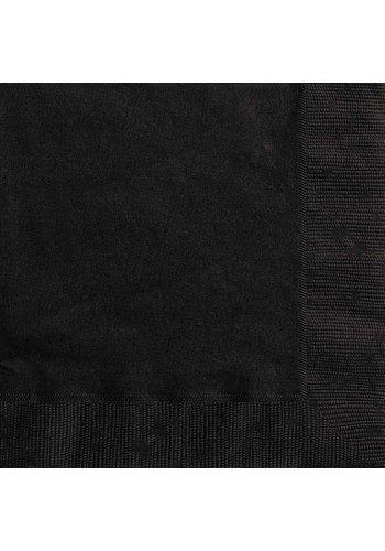Servetten Zwart 33x33cm - 20 stuks