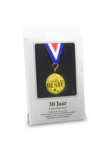 Gouden Medaille - 30 Jaar