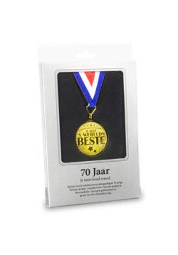 Gouden Medaille - 70 Jaar