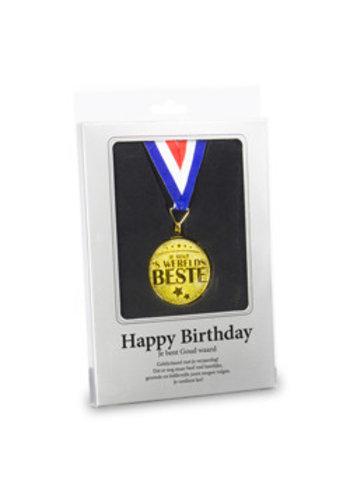 Gouden Medaille - Happy Birthday