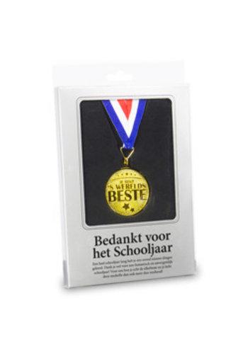 Gouden Medaille - Bedankt voor het schooljaar