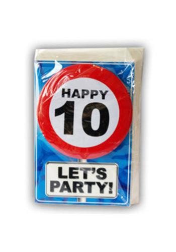 Happy Age Kaart - 10 Jaar