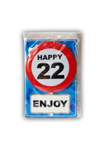 Happy Age Kaart - 22 Jaar