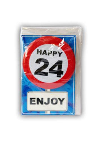 Happy Age Kaart - 24 Jaar