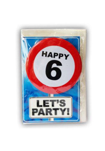 Happy Age Kaart - 6 Jaar