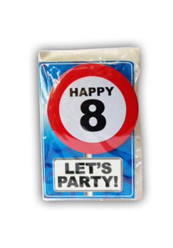 Happy Age Kaart - 8 Jaar