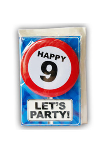 Happy Age Kaart - 9 Jaar