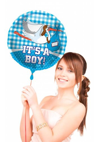 Folieballon - It's a Boy Stork - 45cm
