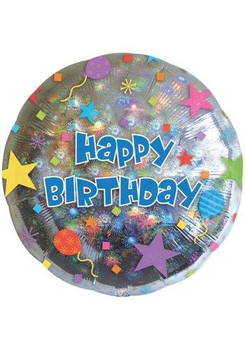 Folieballon - Happy Birthday Confetti - 45cm