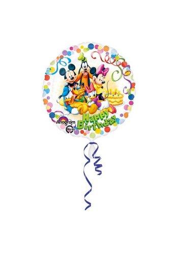 Folieballon Happy Birthday Mickey Mouse - 45cm