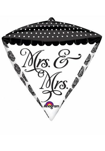 Diamondz Mrs & Mrs - 38x43cm