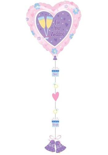 Folieballon Wedding - 137cm