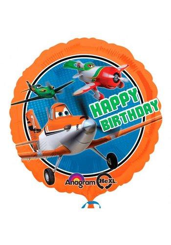 Folieballon Planes Happy Birthday - 45cm