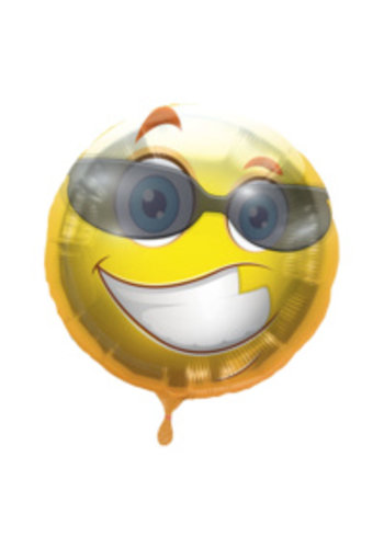 Folieballon Smiley Zonnebril - 45cm