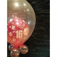 thumb-Cadeau Ballon met Glitter-2