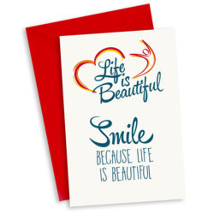 Life Is Beautiful Kaart You Make My Life So Beautiful Zorg Voor