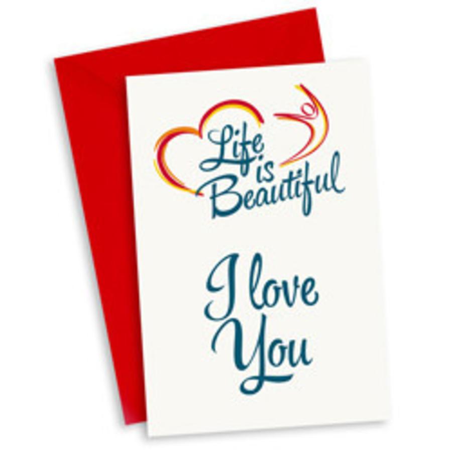 Life Is Beautiful Kaart I Love You Zorg Voor Party Online
