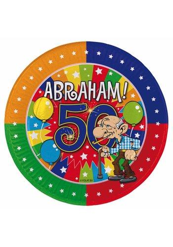 Abraham bordjes 8 stuks - 18cm