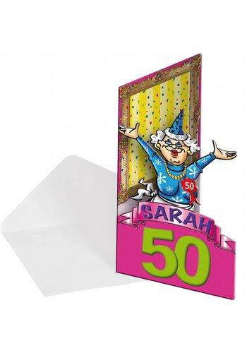 Sarah uitnodigingen - 8 stuks