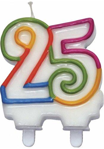 Cijferkaarsje 25