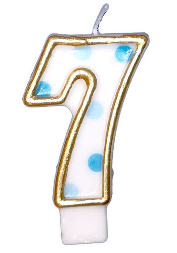 Cijferkaarsje 7 Blauw