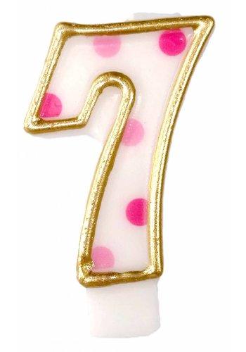 Cijferkaarsje 7 Roze