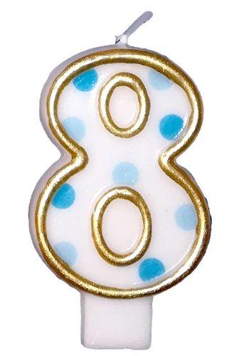 Cijferkaarsje 8 Blauw