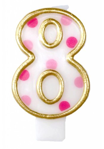 Cijferkaarsje 8 Roze